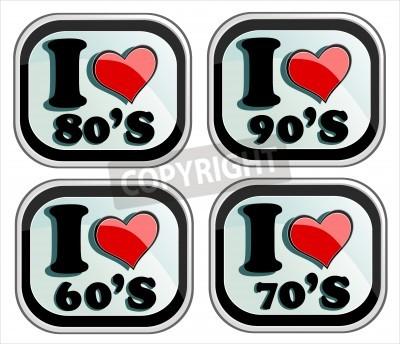 Kocham Lat 60 70 80 I 90 Plakaty Redro