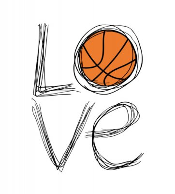 Plakat Kocham symbol koszyka