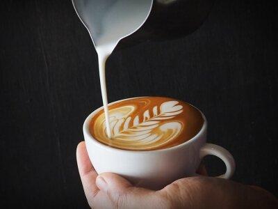 Plakat Kolaż kawy latte sztuki