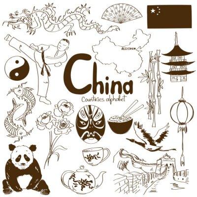 Plakat Kolekcja ikon z Chin