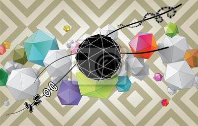 Kolor abstrakcyjne skład z geometrycznych kształtów.