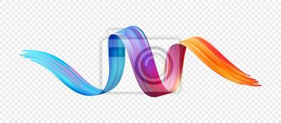 Plakat Kolor pędzla olej lub farba akrylowa element projektu. Ilustracji wektorowych