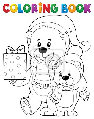 Plakat Kolorowanka Boże Narodzenie Nosi Temat 1 Na Wymiar Wstążka