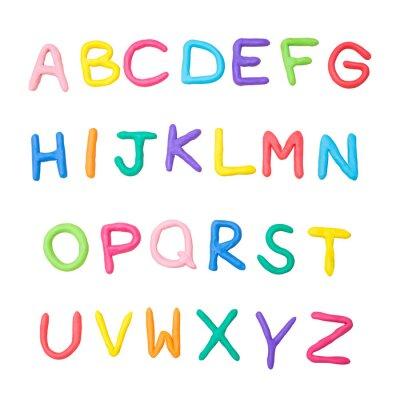 Plakat kolorowe alfabetu od A do Z