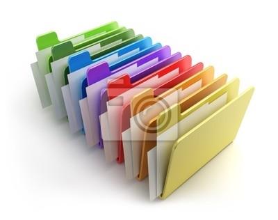 kolorowe foldery
