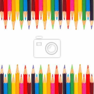 c2c768873240d Plakat Kolorowe obramowanie obosieczny kredek na wymiar • czerwony ...