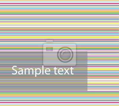 17e762a429bd8 Plakat Kolorowe poziome paski na wymiar • czerwony