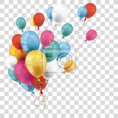 Plakat Kolorowe Przejrzyste Balony Bunch