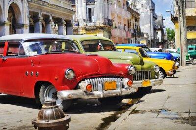 Plakat Kolorowe samochody Hawana