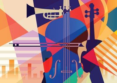 Plakat Kolorowe tło muzyczne.