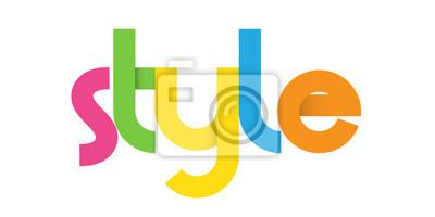 Plakat Kolorowe wektorowe Listy ikoną stylu
