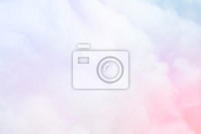 Plakat Kolorowy pastelowy puszysty bawełnianego cukierku tło, miękkiego koloru słodki candyfloss, abstrakcjonistyczna plama deseru tekstura