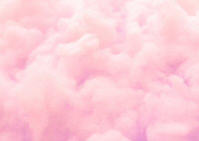 Plakat Kolorowy różowy puszysty bawełniany cukierek tło, miękkiego koloru słodki candyfloss, abstrakt zamazująca deserowa tekstura