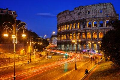 Plakat Koloseum w nocy