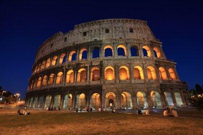Plakat Koloseum w nocy, Rzym, Włochy