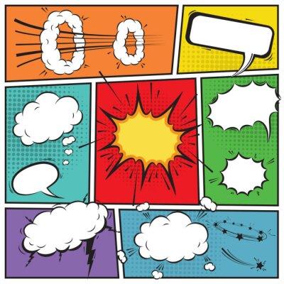 Plakat Komiksowe dymki