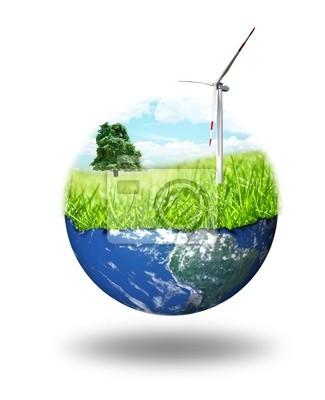 Plakat Koncepcja czystej energii