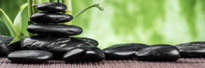 Koncepcja spa z zen kamienie bazaltowe