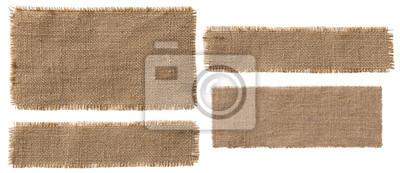 Plakat Konopie Tkanina Wytwórnia Elementów, Rustic Hesji patch Torn Worek Cloth