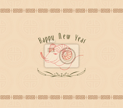 Plakat Konstrukcja Koza na obchody chińskiego Nowego Roku