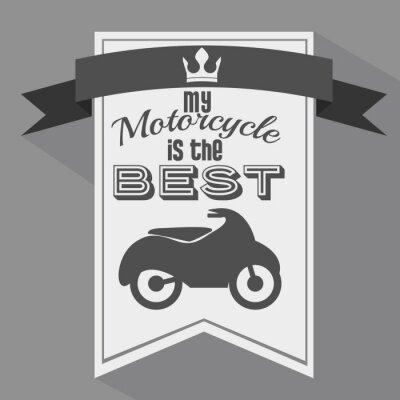 Plakat Konstrukcja motocyklista