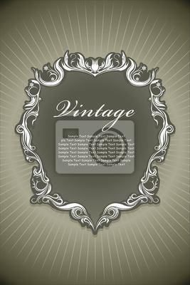 Plakat Konstrukcja ramy vintage
