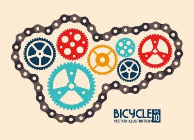 Plakat konstrukcja rowerowa