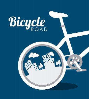 Plakat Konstrukcja roweru, ilustracji wektorowych.