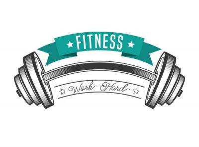 Plakat Konstrukcja siłownia styl życia