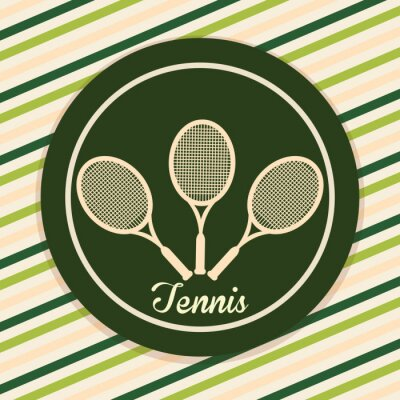 Plakat Konstrukcja Tenis Sport