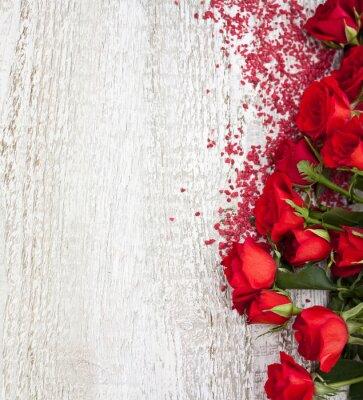 Plakat Kontekst Wood z różami