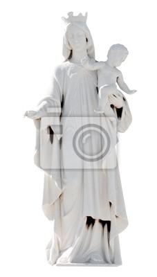 Plakat Koronowany posąg Matki Boskiej z dzieckiem