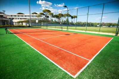 Plakat kort tenisowy