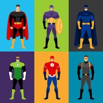 Plakat Kostiumy Superhero