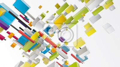 kostki tworzą abstrakcyjną kompozycję do projektowania graficznego