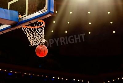 Plakat Kosz do koszykówki wszystko przechodzi sieci