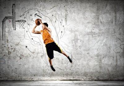 Plakat Koszykarz