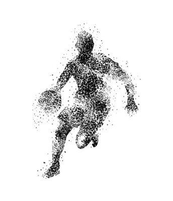 Plakat koszykarz, sylwetka