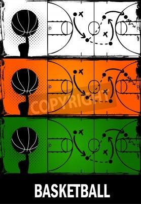 Plakat koszykówka