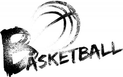 Plakat Koszykówka Grunge Smugi