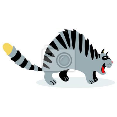 Kot śmieszne kreskówka. Ilustracja wektorowa z charakterem kotów