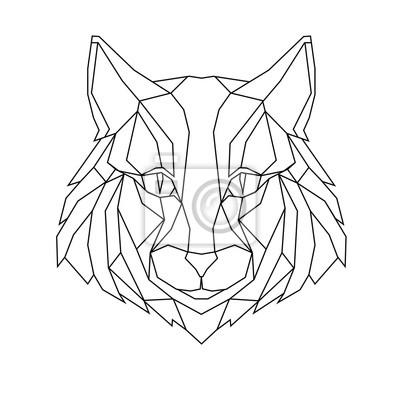 Kot stylizowany trójkąt wieloboczny modelu