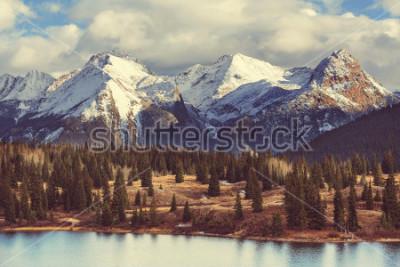 Plakat Krajobraz górski w Colorado Rocky Mountains, Colorado, Stany Zjednoczone.