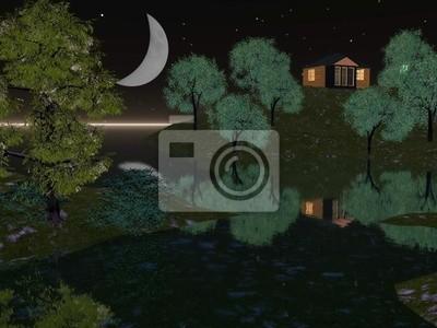 Krajobraz wieczorem