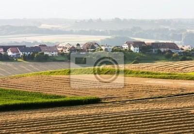 Krajobrazu wiejskiego z pola