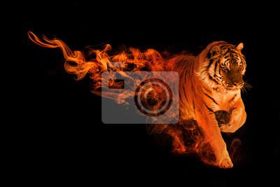 Plakat królestwo zwierząt tygrysów ze wspaniałymi efektami