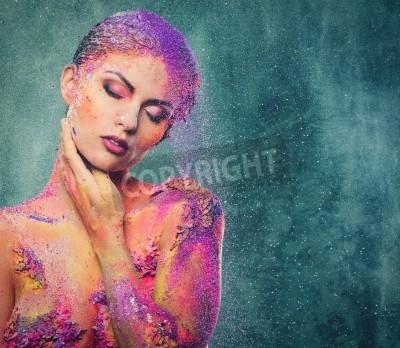 Plakat Kruchość ludzkiej istoty koncepcyjne ciała sztuki na kobiety