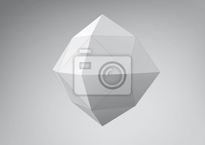 Kryształ polyhedron. Możesz zmieniać kolory
