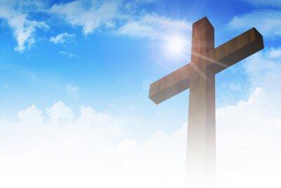 Plakat Krzyż na tle chmur