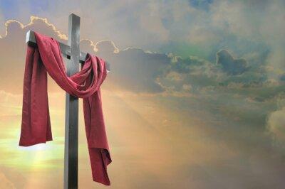 Plakat Krzyż na tle nieba